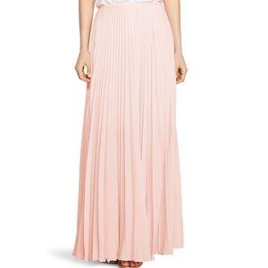 Banana Republic Pink Accordian Pleated Maxi Skirt